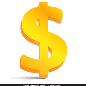 Free Gold Dollar Sign Vector - Free vector #206151