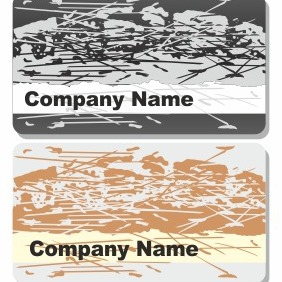 Grunge Business Cards - vector gratuit #206221