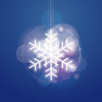 Shiny Snowflake - vector #206341 gratis
