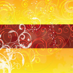 Swirls Designs In Brown Yellow Background - vector gratuit #206351
