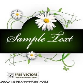 Flowers Banner Vector Graphics - бесплатный vector #206431