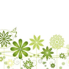 Flourish Garden Vector - Kostenloses vector #206651