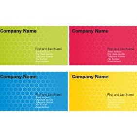 Set Of Business Card Designs - vector gratuit #206701