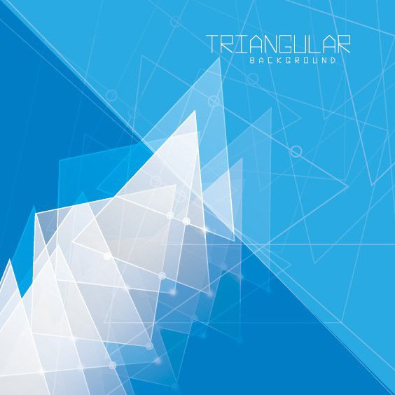 Triangular Background - Free vector #206731