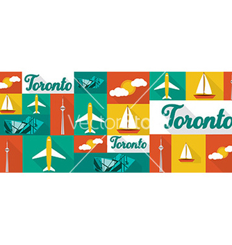 Free travel and tourism icons toronto vector - Free vector #206761
