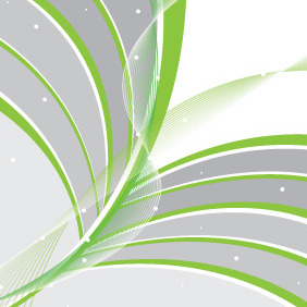 Green Spring Lines Abstract Card - Free vector #206961