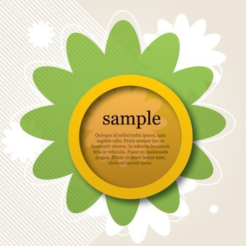Flower Banner - Free vector #207011