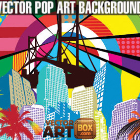 Awesome Free Vector Pop Art Style Background - Free vector #207031