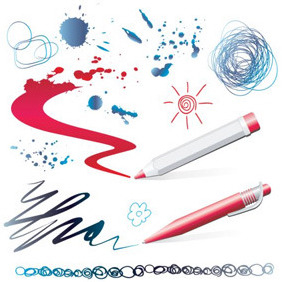 Drawing Tools Illustrations - Free vector #207131