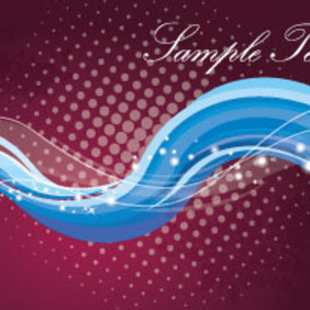 Blue Waves In Dark Red Background - vector gratuit #207351
