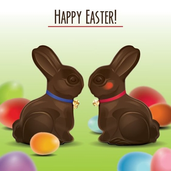 Easter Bunnies - Free vector #207791