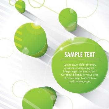 3D Green Columns - vector gratuit #208091