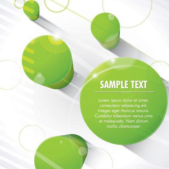 Colunas verdes 3D - Free vector #208091