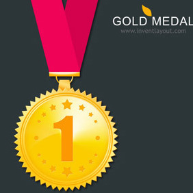 Gold Medal - Free vector #208161