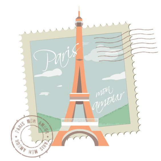 Paris Mon Amour - Free vector #208181