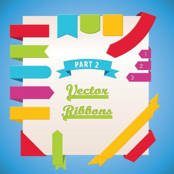 Vector Ribbons Part 2 - vector #208301 gratis