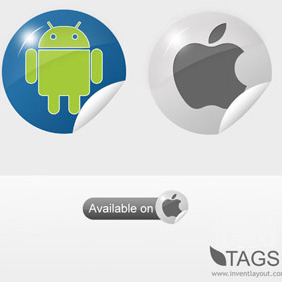 Tags - Apple - Android - Free vector #208311