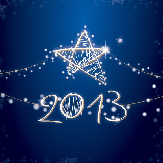 Shiny 2013 Card - Free vector #208521