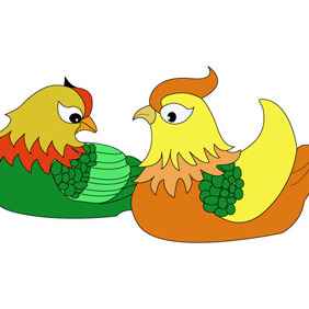 Chicken Cartoon Character- Free Vector. - Free vector #208641