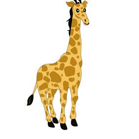Giraffe Cartoon Character- Free Vector. - Free vector #208661
