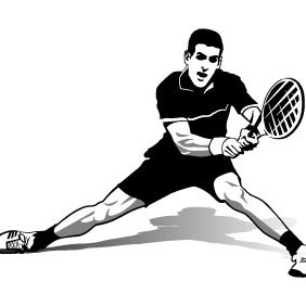 Novak Djokovic Tennis Star - vector gratuit(e) #208741