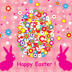 Happy Easter Background Design - vector gratuit #208861