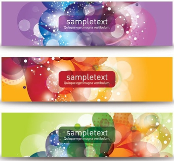 Beautiful Vector Banners - бесплатный vector #208881