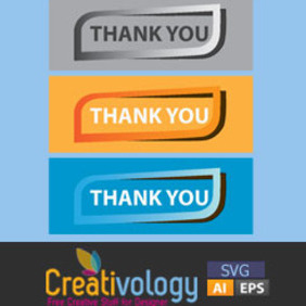 Free Vector Thank You Tag - vector gratuit #208961