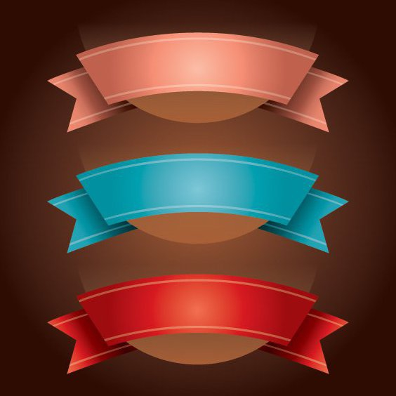 Ribbons - Free vector #208991