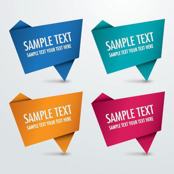 Origami Signs - Free vector #209011