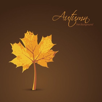 Autumn Tree Background - vector gratuit #209091