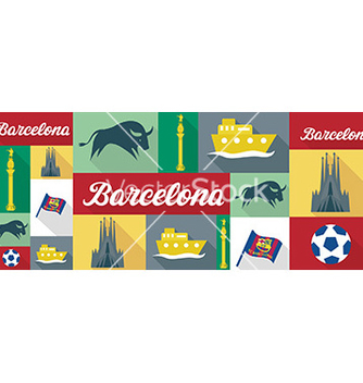 Free travel and tourism icons barcelona vector - vector gratuit #209101