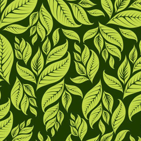 Dark Green Floral Background - Free vector #209191