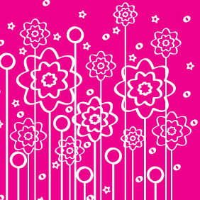 Flowers Of Lines Background Design - vector gratuit #209271