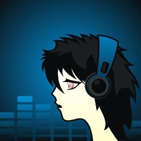 Woman With Headsets - vector gratuit #209281