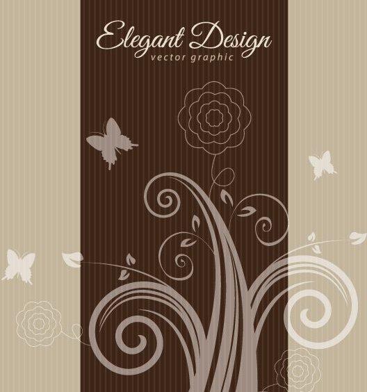 Элегантный дизайн коричневый - бесплатный vector #209321