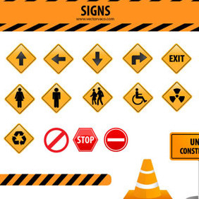 Signs Vector Set By Vectorvao.com - Free vector #209361