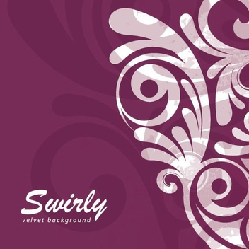 Swirly Velvet Background - vector gratuit #209431