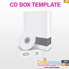 CD Box Template - Free vector #209451