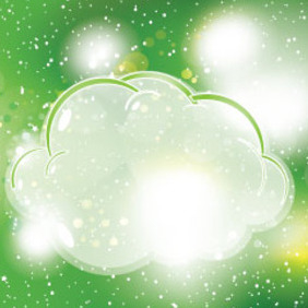 Clouds In Green Sky Free Vector - Free vector #209531