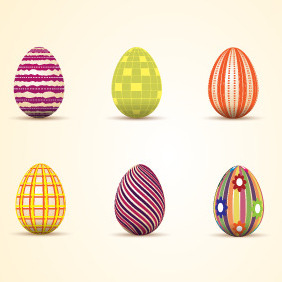 Easter Eggs 1 - Kostenloses vector #209571