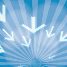 To The Future Blue Abstract Vector - Free vector #209731