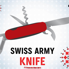 Swiss Army Knife - Free vector #210011