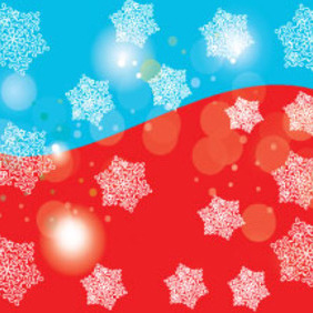 Red And Blue With Snowy Stars Vector - Free vector #210391