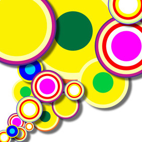Abstract Circle Shapes - Free vector #210461