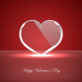Vector Glass Heart - vector gratuit #210571