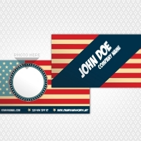 American Business Card - vector #210871 gratis
