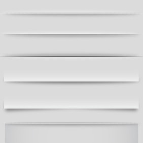 Vector Shadows And Dividers - Free vector #211031