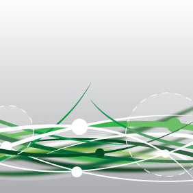 Green Abstract Lines - vector gratuit #211171