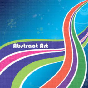 Abstract Colored Illustration Free Art - Free vector #211271